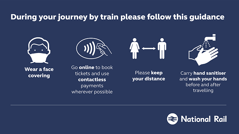 Guidance on during your journey on National Rail services