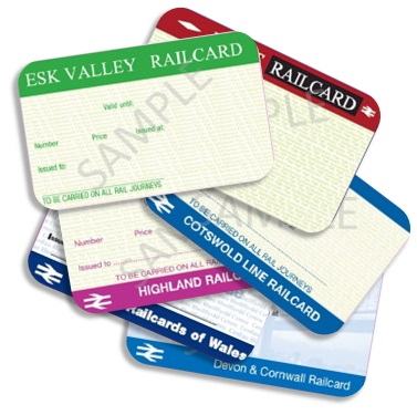 The Following Regional Railcards Are Available