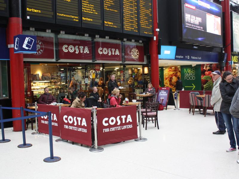 Liverpool Lime Street Station Costa Coffee