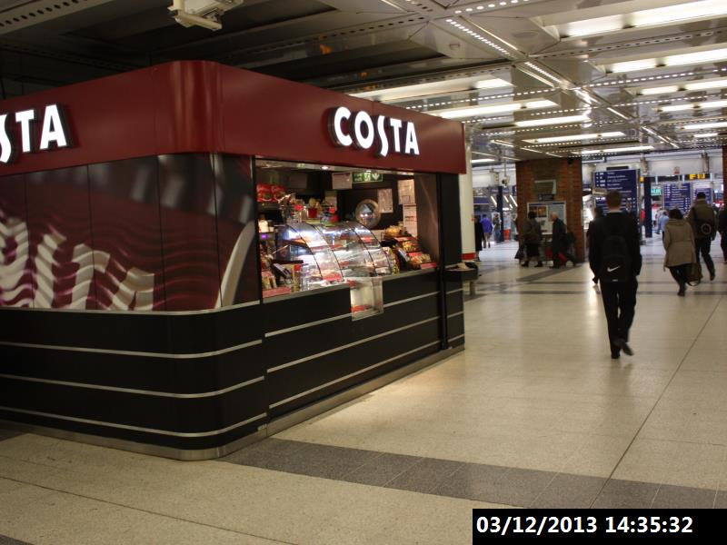 London Liverpool Street Station Costa Coffee