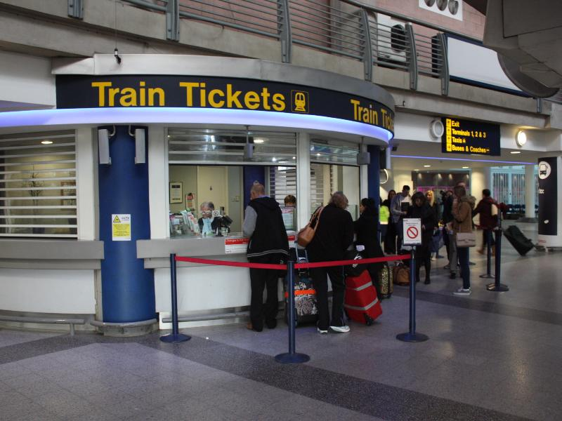 Manchester Airport Station - Ticket Counter