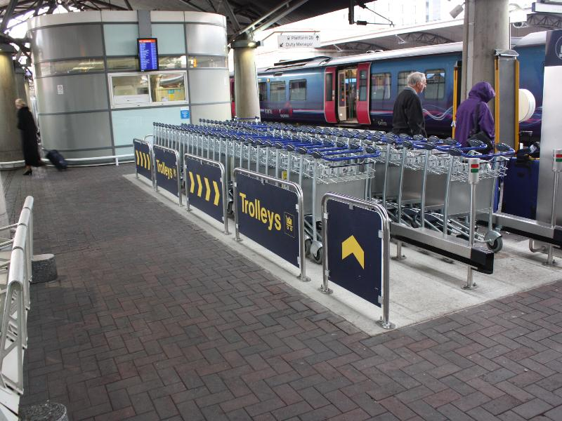 Manchester Airport Station - Luggage Trolley