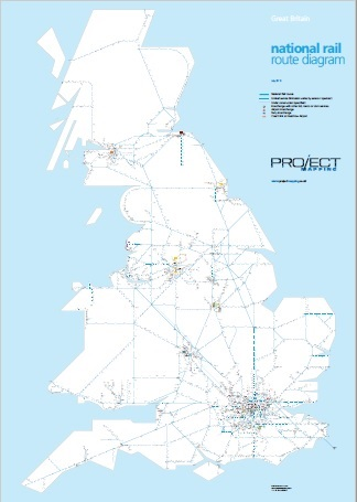 Map of the National Rail Train Operators