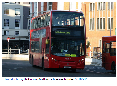 Photograph of a double-decker London bus