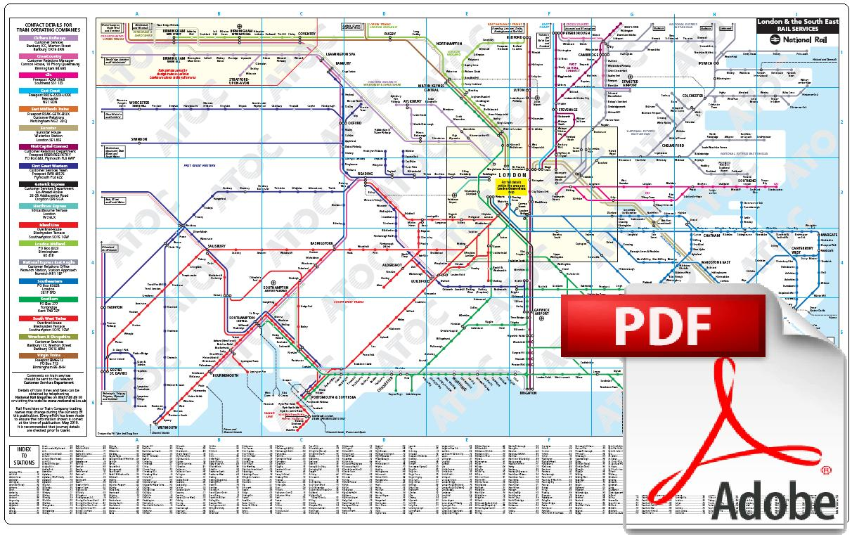 National Rail Enquiries - Maps of the UK National Rail Network RAIL MAPS
