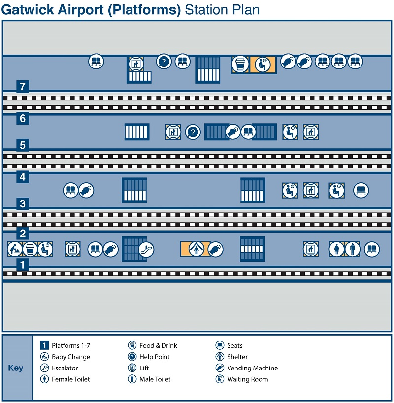 gatwick airport train station map National Rail Enquiries gatwick airport train station map