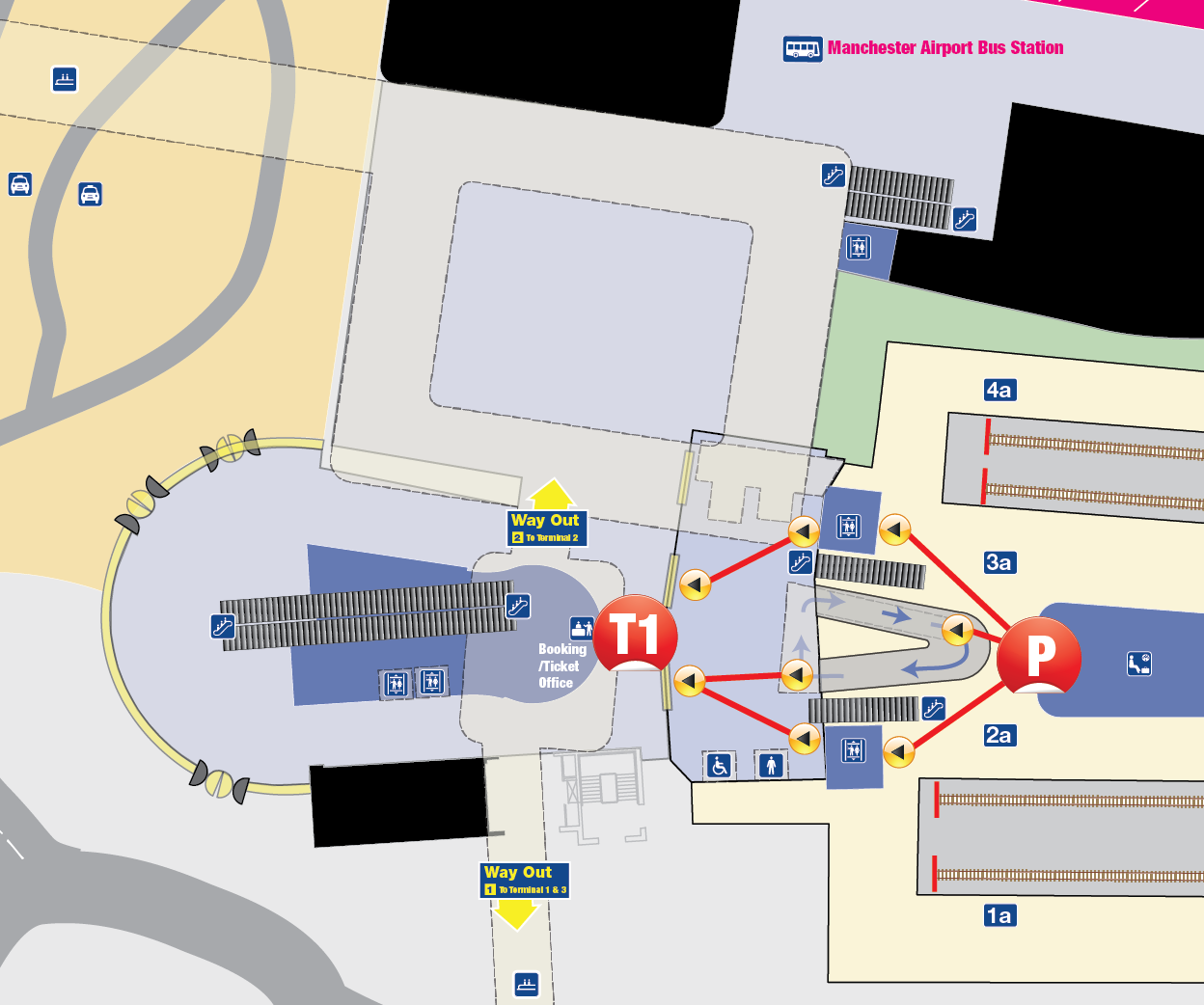 Map Of Manchester Airport Train Station National Rail Enquiries
