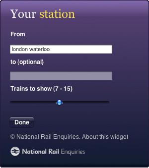 document national rail enquiries journey planner